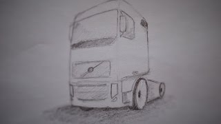 How to draw a truck Volvo
