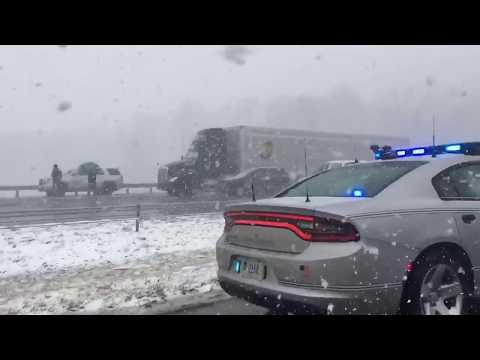 25 semi truck and 70 car-crash, I-71 Closed!
