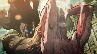 Repeat youtube video Eren vs Female Titan [City Fight][English Sub]