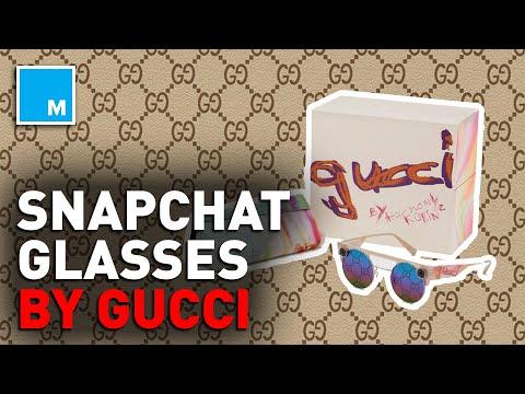 Snapchat Unveils GUCCI-BRANDED Glasses | [MASHABLE NEWS]