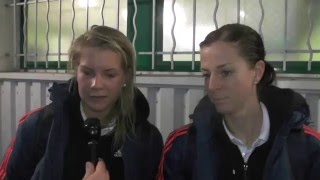 Ada Hegerberg and Lotta Schelin after Metz E.S.A.P-Olympique Lyon on 10.01.2016