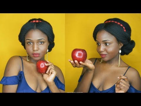 SNOW WHITE INSPIRED HAIR TUTORIAL ON 4C NATURAL HAIR