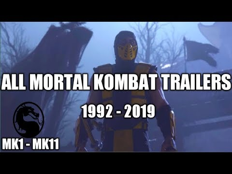 All Mortal Kombat Trailers (MK1 - MK11) | 1992 - 2019 thumbnail