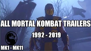 All Mortal Kombat Trailers (MK1 - MK11) | 1992 - 2019