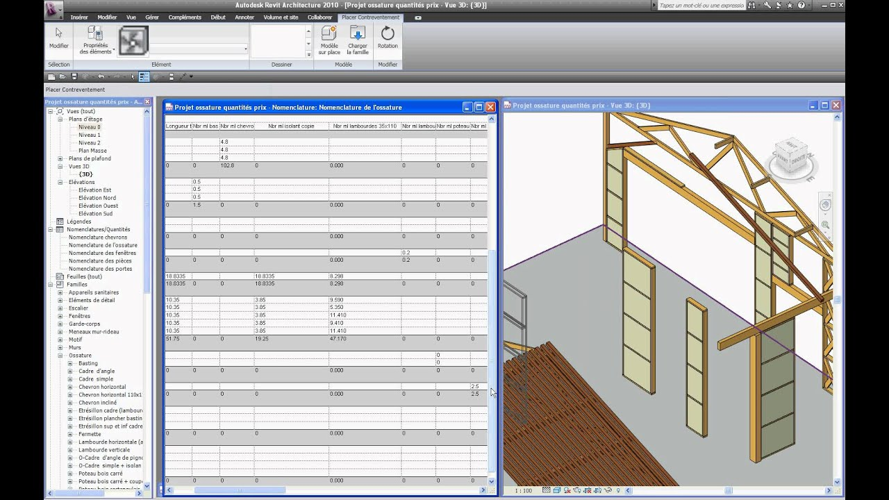 charpente bois revit
