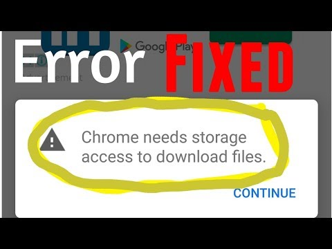 Error ''Chrome Needs Storage Access To Download Files'' Fixed - Chrome Download Manager Extension