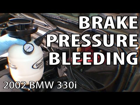 BMW 330i 325i E46 Brake Pressure Bleeding (and Fix for Endless Bubbles)