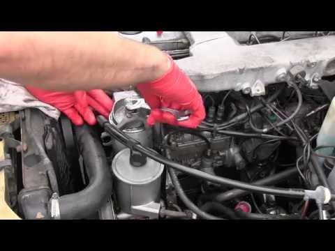 Mercedes Diesel Replacing Main Fuel Filter Youtube