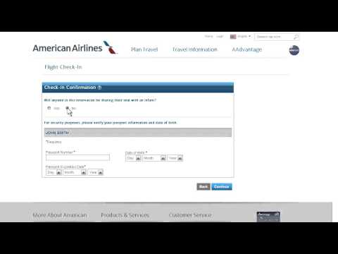 AA.com Online Check-in