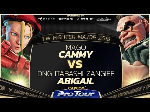 Mago (Cammy) vs DNG Itabashi Zangief (Abigail) - TW Fighter Major 2018 Day 2 Top 16 - SFV - CPT 2018