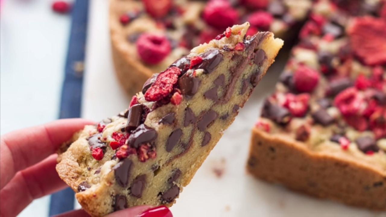 Torta Cookie Con Gocce Di Cioccolato Chocolate Chip Cookie Cake