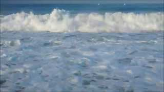 2 HOURS Ocean waves with natural sound FullHD 1080p video