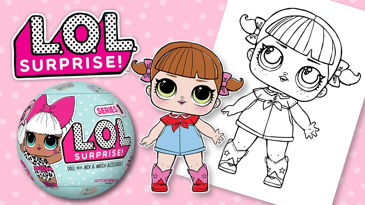 lol surprise line dancer doll coloring book pages l o l doll fun