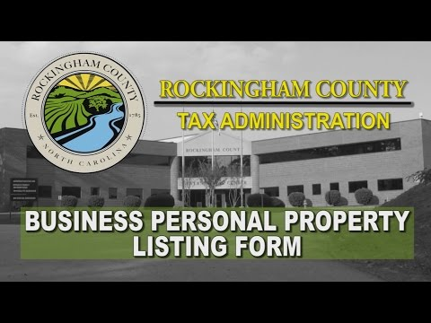 Business Personal Property Listings Tutorial