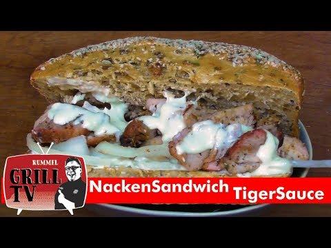 Nackensandwich mit Tigersauce