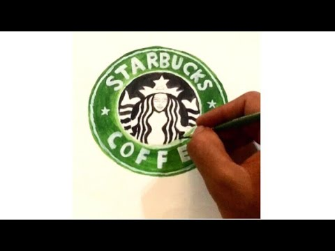 How To Draw Starbucks Logo Tutorial