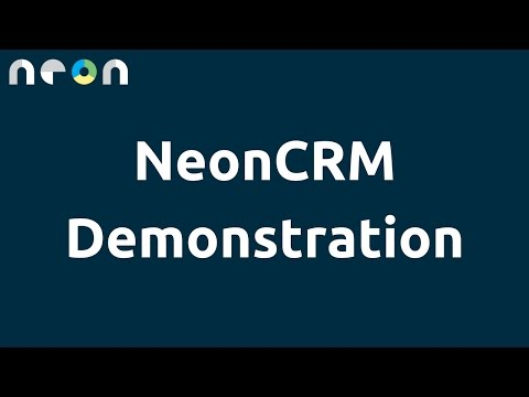 NeonCRM Demonstration