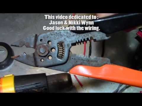 Proper electrical wire connection methods. best twist method. for the wynns