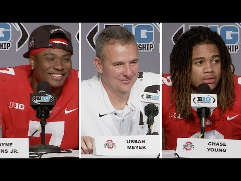 Urban Meyer, Dwayne Haskins, Chase Young: Ohio State postgame Big Ten Championship - Northwestern