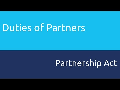 What are Duties of Partners | Relationship of Partners | CA CPT | CS & CMA Foundation
