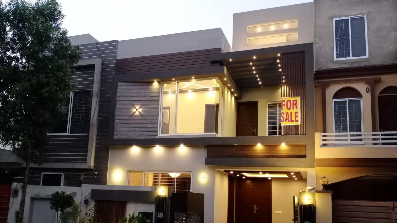 (25×45) Brand New 5 Marla  Beautiful Designer House 🏡 For Sale