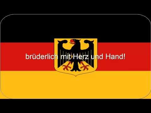 Deutsche Nationalhymne mit Gesang und Text