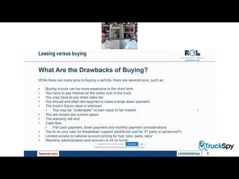 [FedEx Contractors] Buying vs Leasing Truck with REL