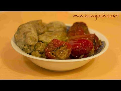 Posne  sarme i punjene paprike - Video recept - Posna slava