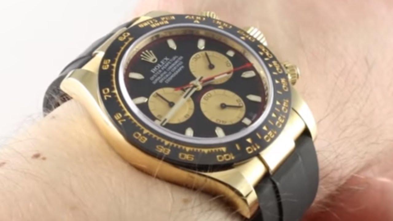 abffd52a987 Rolex Daytona Yellow Gold Oysterflex Strap 116518LN Luxury Watch Review