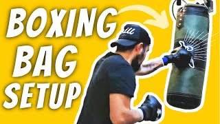 How To Fill A Boxing Bag Hang A Punching Bag or a Small Heavy Bag Quick And Easy 2021