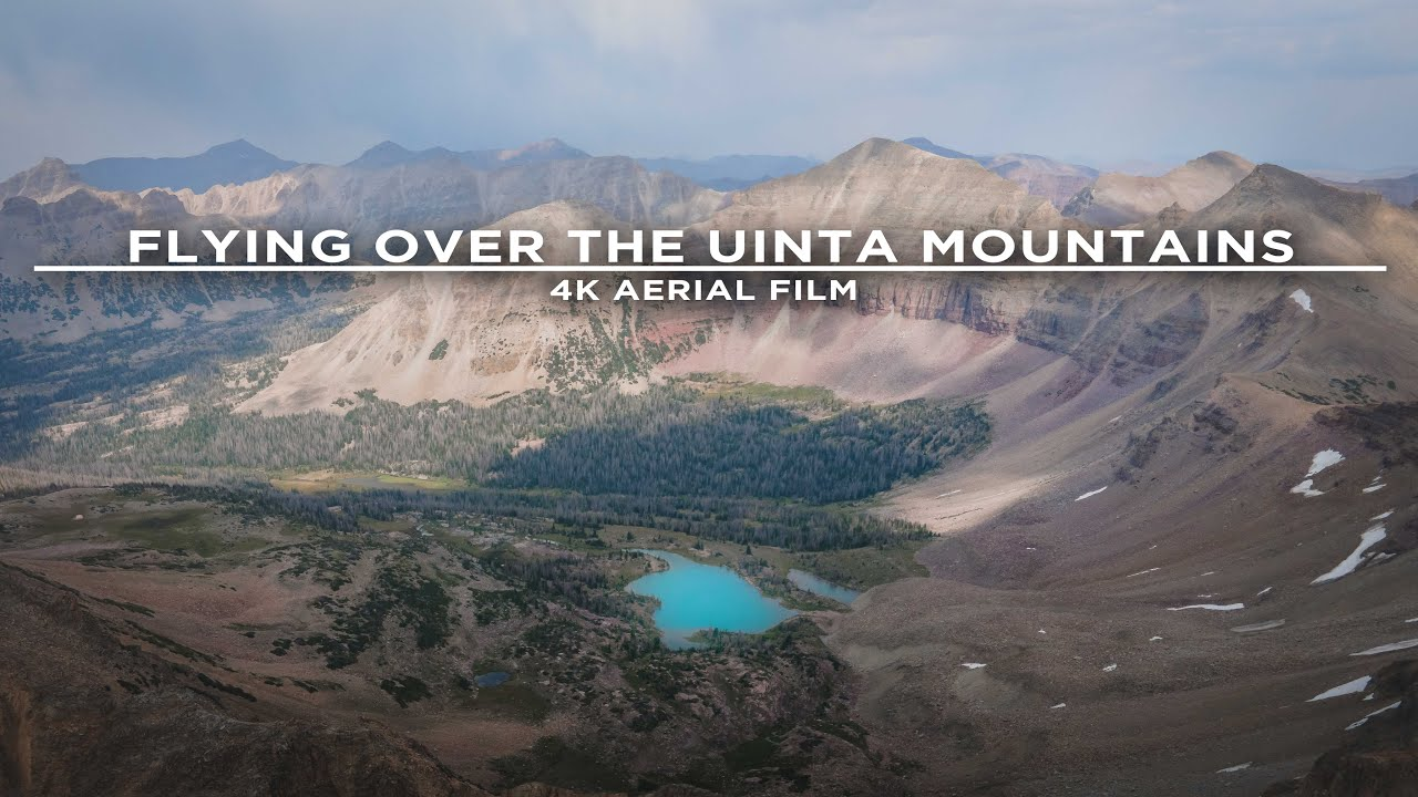 Flying Over The Uinta Mountains in Utah