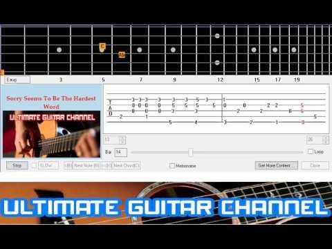 Guitar Solo Tab] Sorry Seems To Be The Hardest Word (Elton John ...