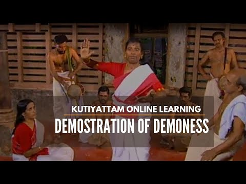 Description of a Demoness in Kutiyattam