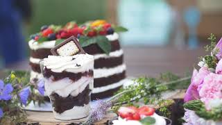 Food-съёмка: свадебный торт