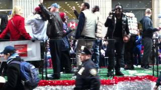 "New York Giants D Leads ""Defense"" Chants During Super Bowl XLVI Ticker-Tape Parade"