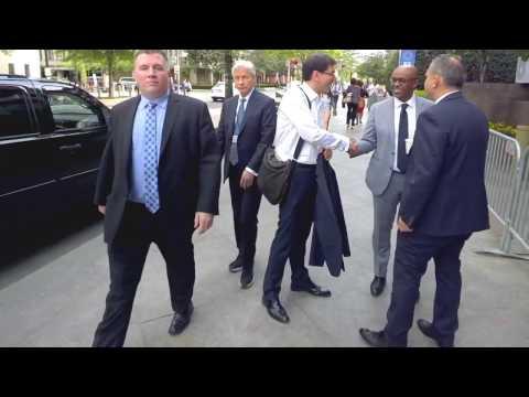 Capitol Intel films JP Morgan CEO Jamie Dimon arriving in sneakers #IMFMeetings