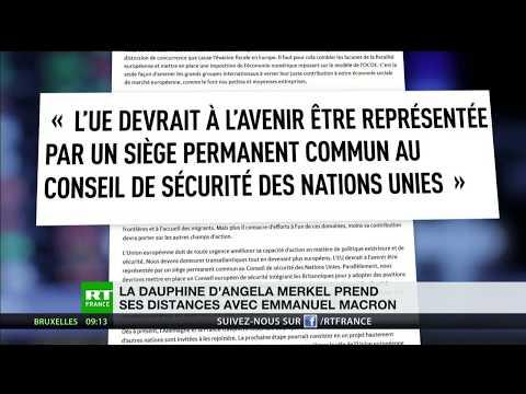 La chef de la CDU pour que la France perde son son siège au Conseil de sécurité de l'ONU