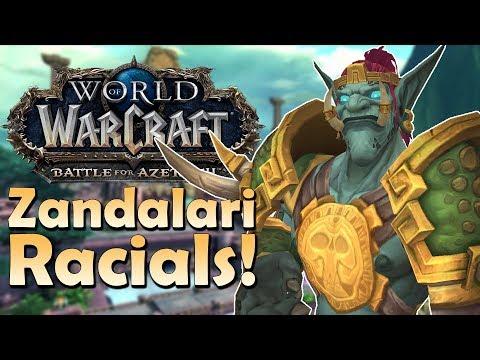 Zandalari Troll Racials - In Game Preview | Battle for Azeroth