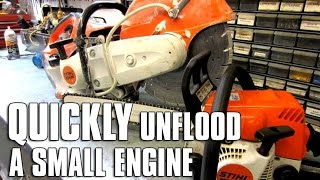 HOW-TO Quickly Un-flood An Engine!