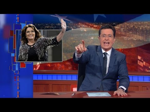 Palin's Trump Endorsement: Colbert Cheers Return of Original 'Material' Girl