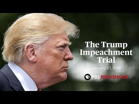 WATCH LIVE: Trump impeachment trial — Jan. 27
