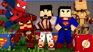 Minecraft: ESCADONA - LUCKY BLOCK HERÓIS ‹ AMENIC ›