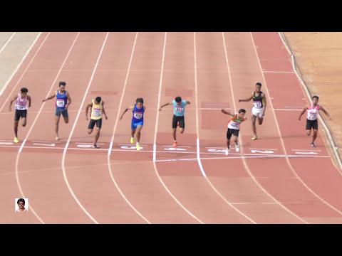 BOY'S U18  100m RUN FINAL . 32nd NATIONAL JUNIOR ATHLETICS CHAMPIONSHIPS-2016