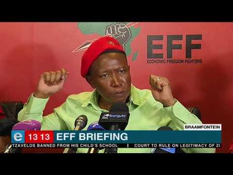 EFF leader Julius Malema on Donald Trump at media briefing