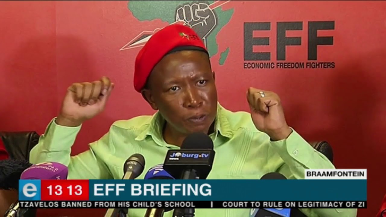 EFF leader Julius Malema on Donald Trump at media briefing