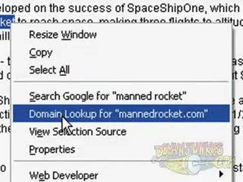 domainer tool - domain lookup firefox extension