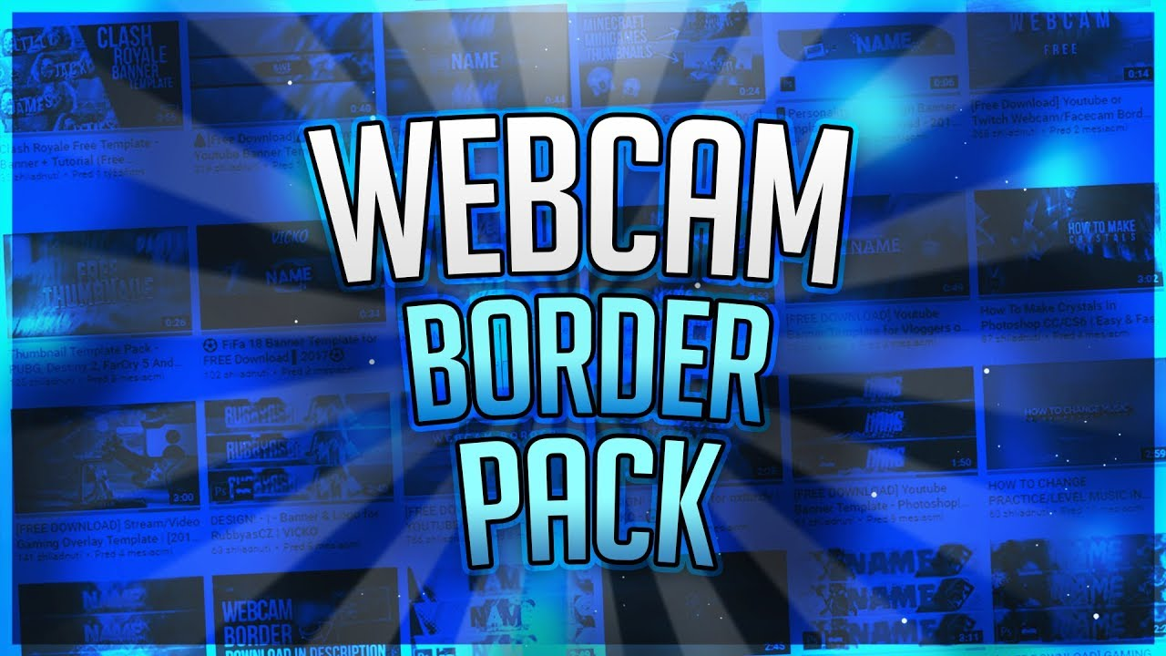 Free Download Youtube Or Twitch Webcamfacecam Border Free Template