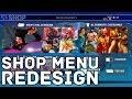Street Fighter 5 - Shop Redesign (Concept V1)