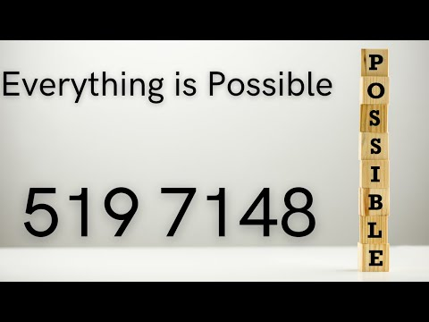 Everything is possible - 519 7148 - Grabovoi Numbers - Numerical sequences.
