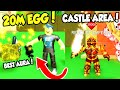 NEW CASTLE AREA AND 20M WOLF PET IN SLAYING SIMULATOR!! (Roblox)